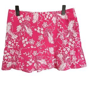 SMART SET Pink & White Patterned Casual Skirt 13